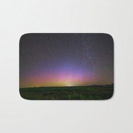 Colorful Aurora Borealis Night Sky Bath Mat