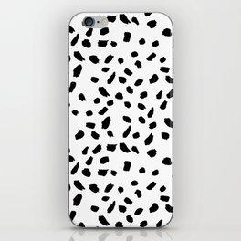 Brush Stroke Dots iPhone Skin