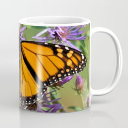 Monarch Butterfly on Wild Asters (square) Coffee Mug