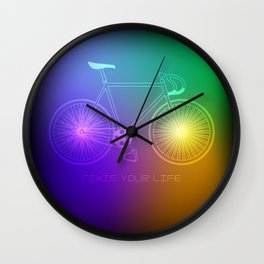 Fixie your Life Wall Clock
