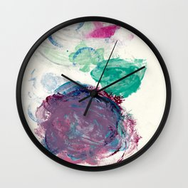 Circles Nail Polish Wall Clock