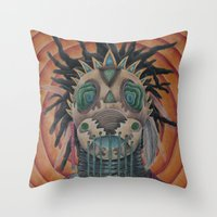architect Throw Pillows featuring The Architect by Joel Perez
