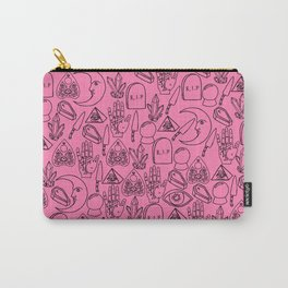 Pink Halloween Pattern Carry-All Pouch