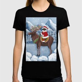 Christmas Cat and Moose T-shirt