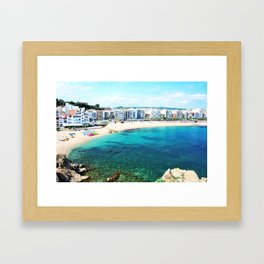 Beach at Blanes,Costa Brava. Framed Art Print