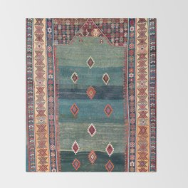 Sivas Antique Turkish Niche Kilim Print Throw Blanket