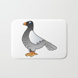 cartoon pigeon. Bath Mat