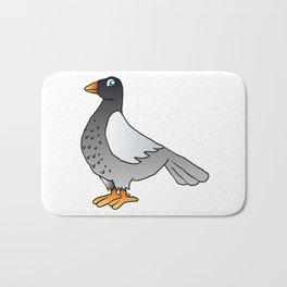 cartoon pigeon. Bath Mat