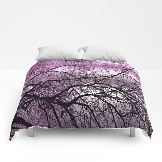 Twisted but Strong (violet orchid) Comforters