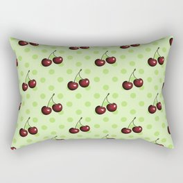 CHERRIES ON MINT GREEN Rectangular Pillow