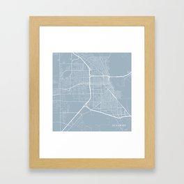 Beaumont Map, USA - Slate Framed Art Print
