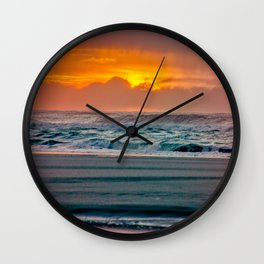 Ocean Sunset - Pacific Coast Highway 101 Wall Clock