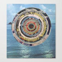 Round Sea Canvas Print