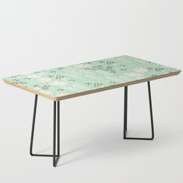 Floral Mint Pattern 013 Coffee Table