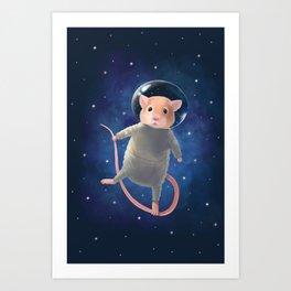 Mouse Astronaut Art Print