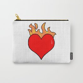 Heart In Fire Carry-All Pouch