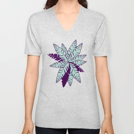 Into The Palms - Green and Purple Unisex V-Neck