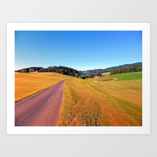 Country road with scenery | landscape photography Art Print
