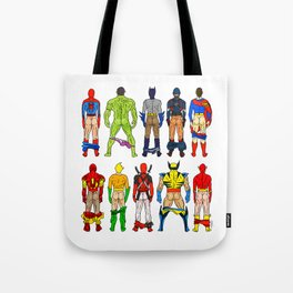 Superhero Butts LV Tote Bag