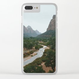 Zion valley Clear iPhone Case