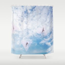 Flight Path Shower Curtain