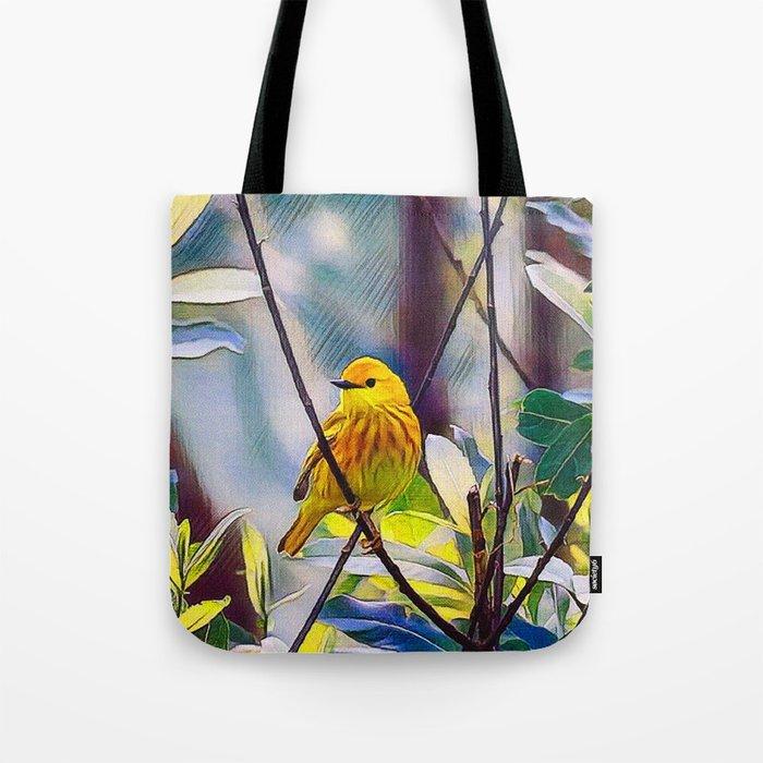 Sweet Yellow Warbler Tote Bag