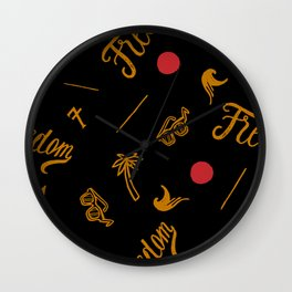Freedom and Flickering Sunshine Thought Wall Clock