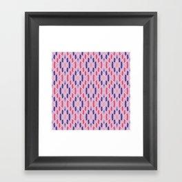 Tribal Diamond Pattern in Violet and Pinks Framed Art Print