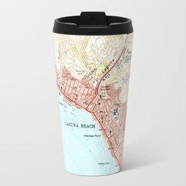Vintage Map of Laguna Beach California (1965) Travel Mug