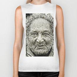 Portrait of a old man in the street Biker Tank