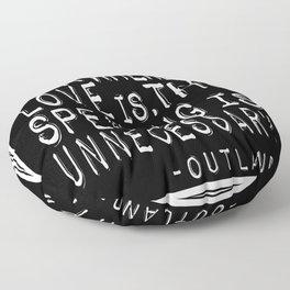 Outlander Quote Floor Pillow