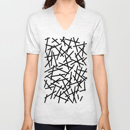 Kerpluk Black on White Unisex V-Neck