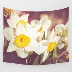 Daffodil flower Wall Tapestry