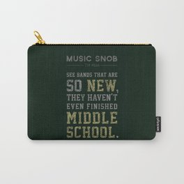 Newest of the NEW — Music Snob Tip #526 Carry-All Pouch