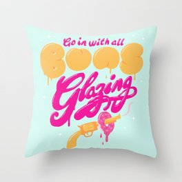 Go In With All Buns Glazing Throw Pillow
