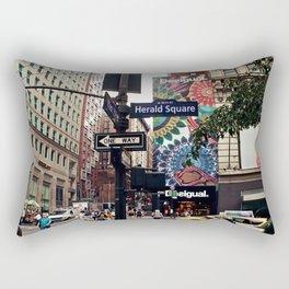 NYC Herald Square Rectangular Pillow