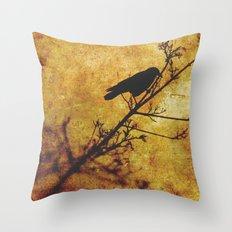 Solitary Bird Throw Pillow