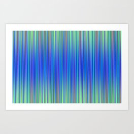 Lines 177 in Blue Art Print