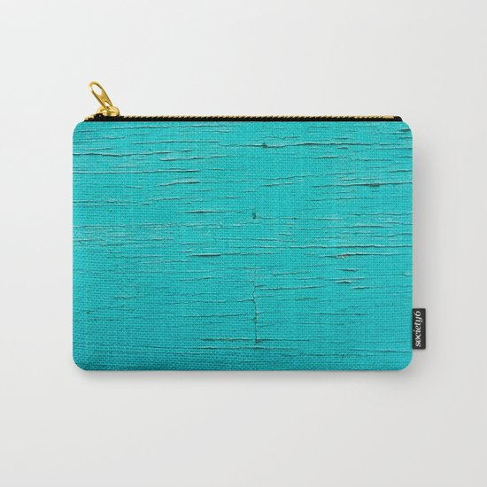 Blue Vintage Wood Carry-All Pouch