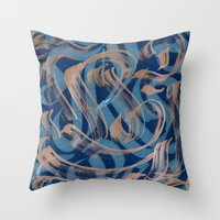 the strokes Throw Pillows featuring Strokes by Roberlan Borges