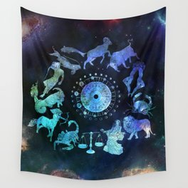 As Above, So Below - Zodiac Illustration Wall Tapestry