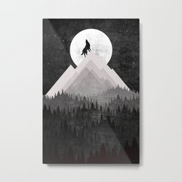 WOLF XL Metal Print