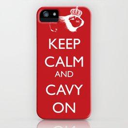 Keep Calm Cavy On iPhone Case