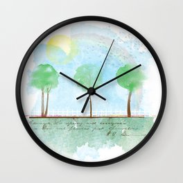 Always it's spring Wall Clock