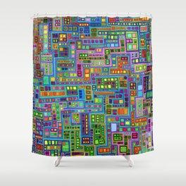 Tiled City Shower Curtain
