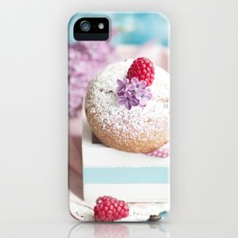 #Pink #pastel #colored #Muffin #still #life iPhone Case