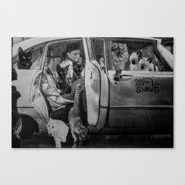 Carpool Canvas Print