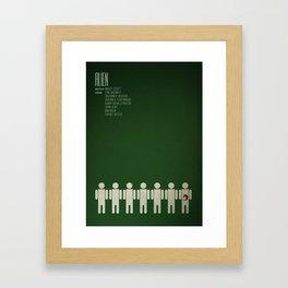 Alien - 8th passenger Framed Art Print