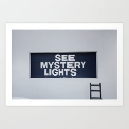 See Mystery Lights Marfa Art Print