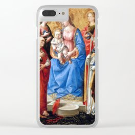 Francesco Pesellino Madonna and Child with Six Saints Clear iPhone Case